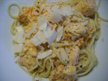 Spaghetti mit Lachssoße - Rezept