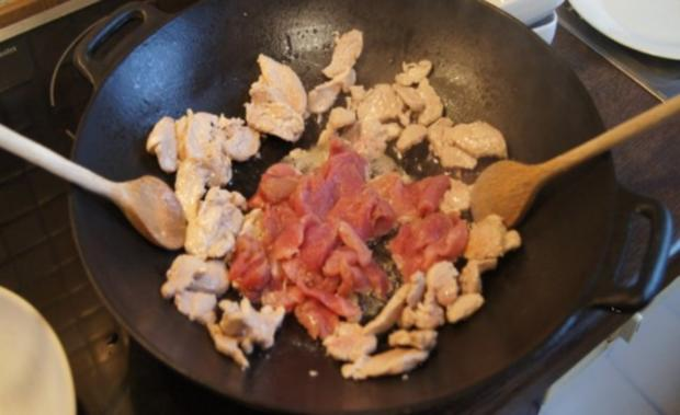 Schweinefilet süß-sauer mit Gemüse und Curry-Reis - Rezept - Bild Nr. 7