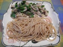 Champignong - Tofu - Ragout an Kamut - Spaghetti - Rezept