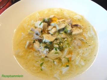 Suppe:  feine HÜHNCHENBRÜHE - Rezept