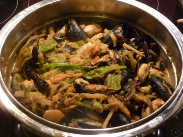 Miesmuscheln an Gemüse-Currysauce - Rezept - Bild Nr. 6