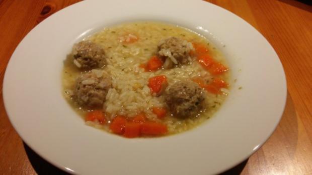 Reistopf mit Fleischklößchen - Rezept