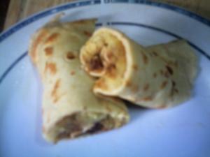 Dinkel-Pfannkuchen mit Apfelrösti - Rezept