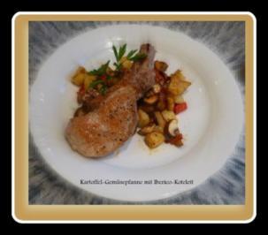 Kartoffel-Champignonpfanne mit Ibericokotelett - Rezept