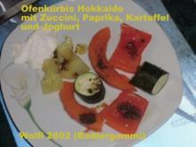 Vegetarisch : Ofenkürbis, Paprika, Zuccini, Kartoffeln - Rezept