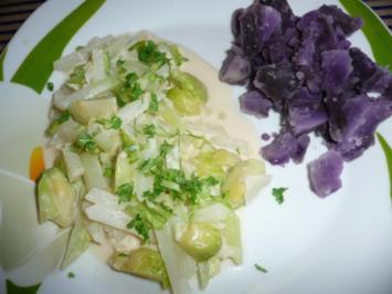 Kohlrabi - Rosenkohl - Gemüse für Figurbewusste. - Rezept