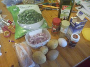Wildlachs mit Blattspinat ala Silke, dazu selbstgemachte Kartoffelrösti - Rezept