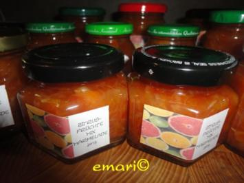 Zitrusfrüchte - Mix - Marmelade - Rezept