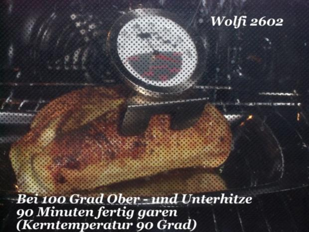 Pute : Putenbraten bei 100 - 130 Grad je nach Herd 90 - 120 Minuten fertig garen - Rezept - Bild Nr. 4