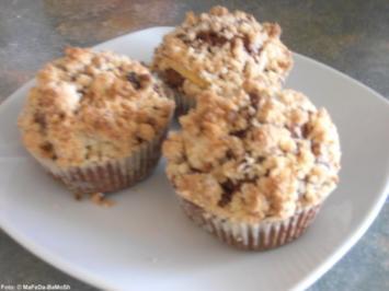 Apfel-Muffins mit Nuss-Streuseln - Rezept