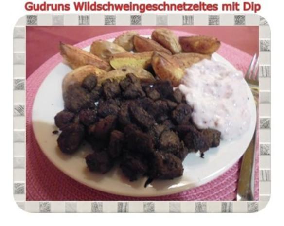 Fleisch: Wildschweingeschnetzeltes mit Dip - Rezept