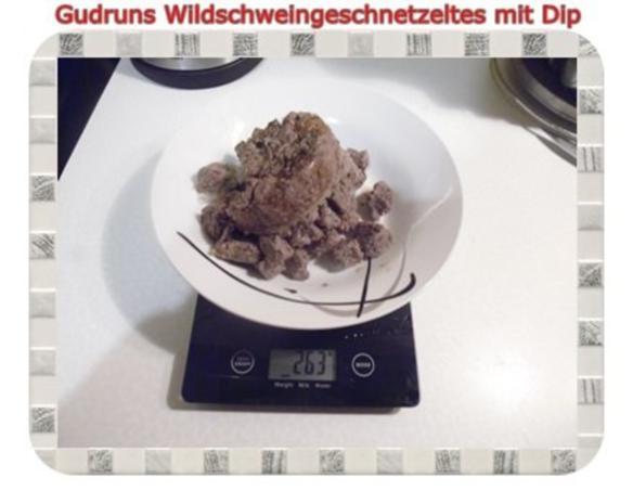 Fleisch: Wildschweingeschnetzeltes mit Dip - Rezept - Bild Nr. 4