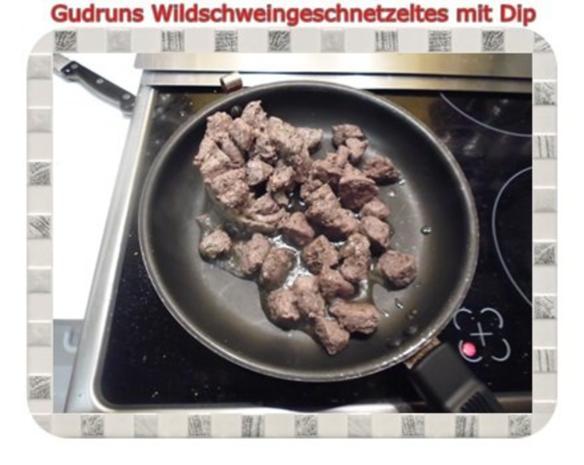 Fleisch: Wildschweingeschnetzeltes mit Dip - Rezept - Bild Nr. 5