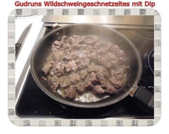 Fleisch: Wildschweingeschnetzeltes mit Dip - Rezept - Bild Nr. 7