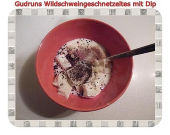 Fleisch: Wildschweingeschnetzeltes mit Dip - Rezept - Bild Nr. 9