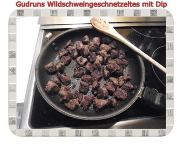 Fleisch: Wildschweingeschnetzeltes mit Dip - Rezept - Bild Nr. 10