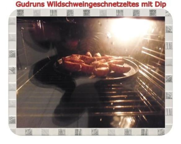 Fleisch: Wildschweingeschnetzeltes mit Dip - Rezept - Bild Nr. 12