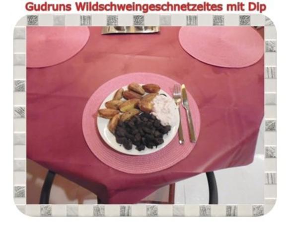 Fleisch: Wildschweingeschnetzeltes mit Dip - Rezept - Bild Nr. 13