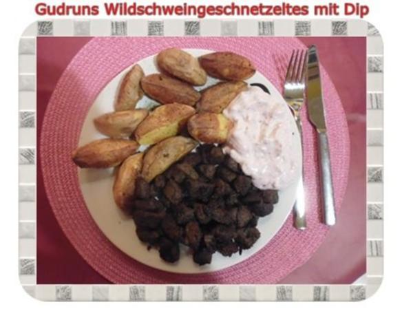 Fleisch: Wildschweingeschnetzeltes mit Dip - Rezept - Bild Nr. 14