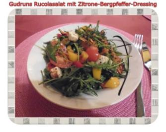 Salat: Rucolasalat mit Zitrone-Bergpfeffer-Dressing - Rezept