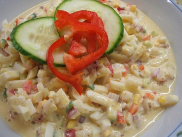 Salate: Eiersalat mit Paprika und Gurke - Rezept