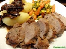 Fleisch:   SCHWEINEFILET natur gebraten - Rezept