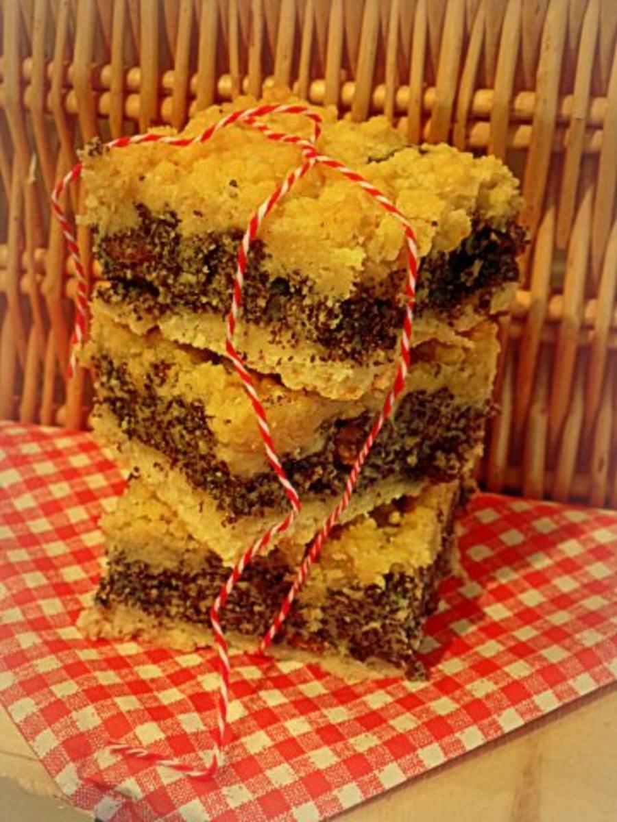 Mohnkuchen Mit Streuseln Vom Blech Rezept Kochbar De