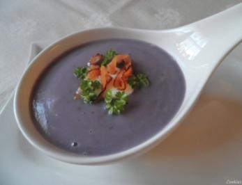 Violette Kartoffelsuppe ... - Rezept