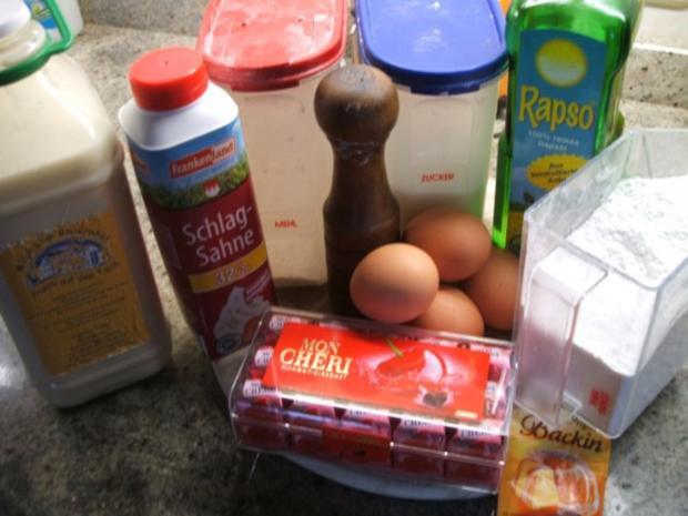 Backen: Mon Cherie-Kuchen - Liebe Brigitte, der ist NUR für Dich! Herzlichen Glückwunsch! - Rezept - Bild Nr. 2