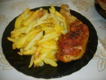 Knusprige Hähnchenschenkel - Rezept