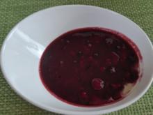 Dessert : Vanillie - Budwig - Quark mit roter Grütze - Rezept