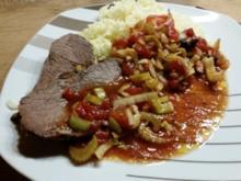 Rotgeschmortes Rindfleisch mit Tomaten Original Chinesisch - Rezept