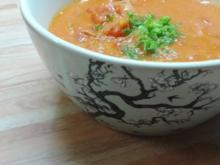 Tomaten-Erdnuss-Suppe mit Fenchel - Rezept