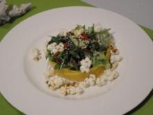 Mangosalat mit Popcorn - Rezept