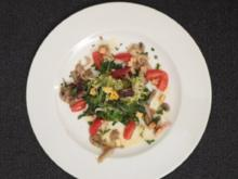 Salatvariation mit Pilzen und Kartoffelmarinade - Rezept