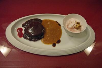 Schokoladenmalheur mit Kombucha-Ingwer-Sorbet - Rezept