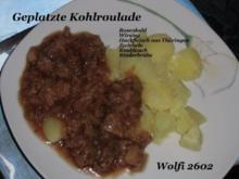 Gemüse : Geplatzte Kohlroulade (Wirsing-/ Rosenkohl & Thüringer Hackfleisch) - Rezept