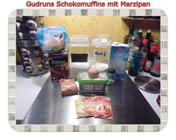 Muffins: Schokomuffins mit Marzipan - Rezept - Bild Nr. 2