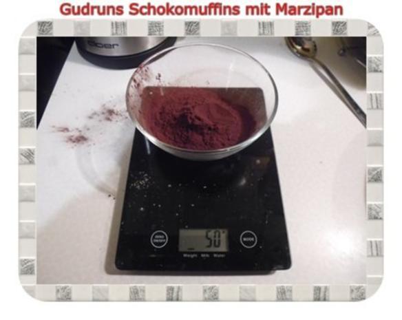 Muffins: Schokomuffins mit Marzipan - Rezept - Bild Nr. 6