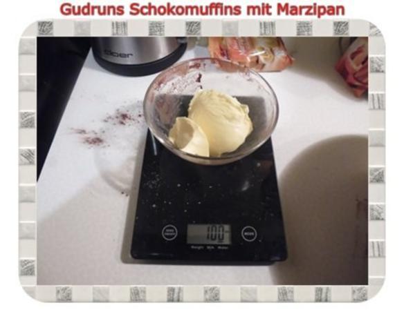 Muffins: Schokomuffins mit Marzipan - Rezept - Bild Nr. 8