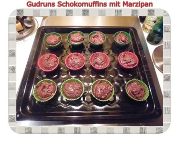 Muffins: Schokomuffins mit Marzipan - Rezept - Bild Nr. 11
