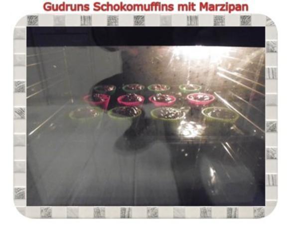 Muffins: Schokomuffins mit Marzipan - Rezept - Bild Nr. 12