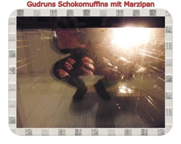 Muffins: Schokomuffins mit Marzipan - Rezept - Bild Nr. 13
