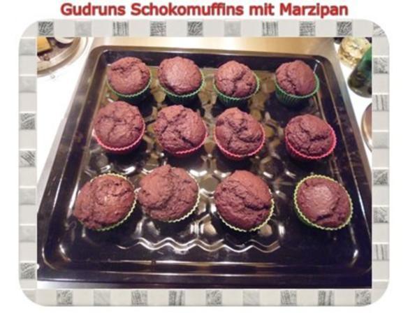 Muffins: Schokomuffins mit Marzipan - Rezept - Bild Nr. 14