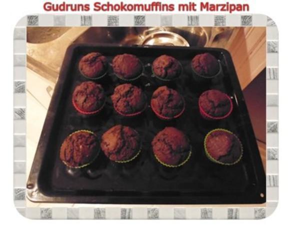 Muffins: Schokomuffins mit Marzipan - Rezept - Bild Nr. 15
