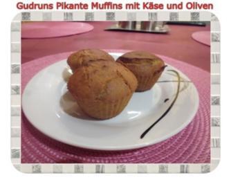 Muffins: Pikante Muffins mit Oliven und Käse - Rezept