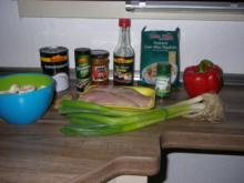 Pikante Suppe Thai-art, mit Kokos und Hühnchen - Rezept