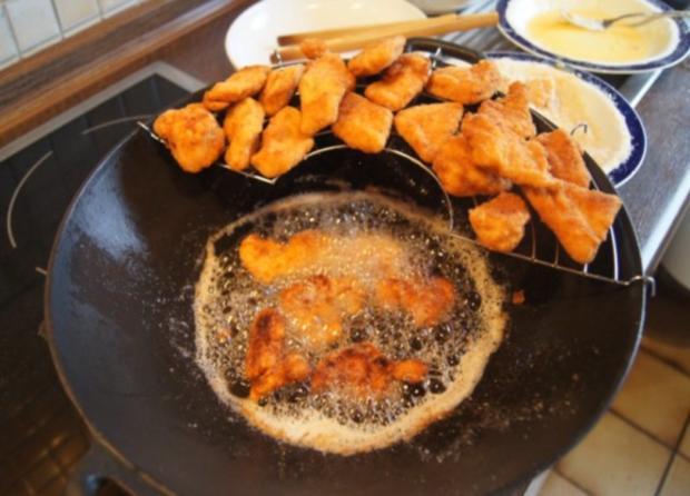 Chicken Nuggets mit Wokgemüse süß-sauer und Reis - Rezept - Bild Nr. 8