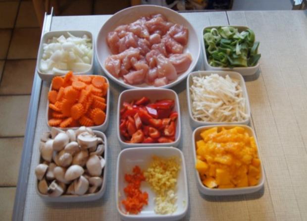 Chicken Nuggets mit Wokgemüse süß-sauer und Reis - Rezept - Bild Nr. 3