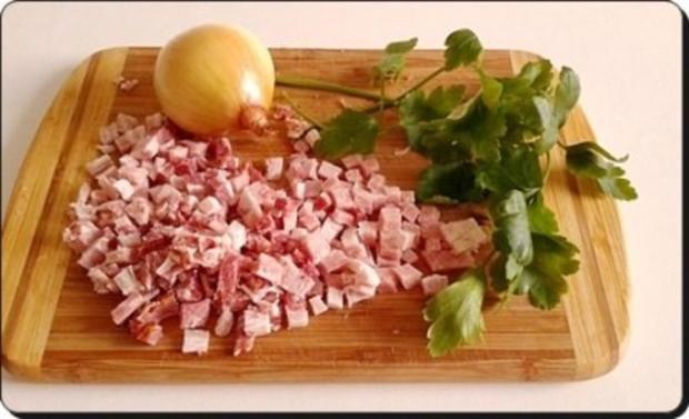 Chili Wiener im Cheddar Käse-Blätterteig-Mantel  aus dem Backofen und Bratkartoffeln dazu - Rezept - Bild Nr. 20